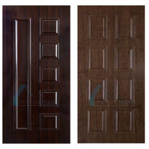 Melamine Laminated MDF Door Skin with Teak Corlor Veneer pictures & photos