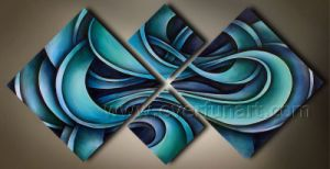 Modern Handmade Abstract Painting on Canvas for Home Decoration (XD4-052) pictures & photos