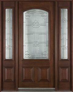 Solid Wood Outdoor Wooden Door pictures & photos