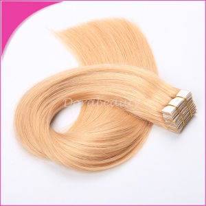 Best Blond Remy Indian Human Hair Tape Hair Weft pictures & photos