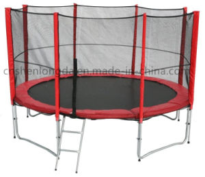 Hot Selling Trampoline, 12FT Red Trampoline with Ladder, Customized Trampoline pictures & photos