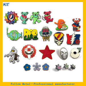 Customized Design Hard Enamel Button Badge pictures & photos