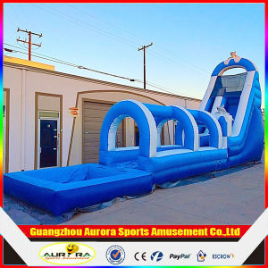 Jungle Theme Inflatable Slide with Pool, Inflatable Slip N Slide for Adult
