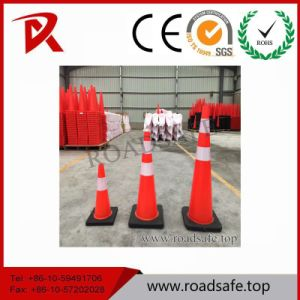 Flexible PVC Colored Traffic Cones with Rubber Base pictures & photos