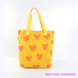 Heart Printed Canvas Bag (B14805) pictures & photos
