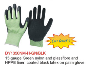 13 Guage Green Nylon Cut Proof Gloves