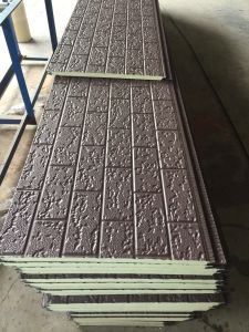 Easy Installation Embossed Metal Coated Insulation Sandwich Wall Panel pictures & photos