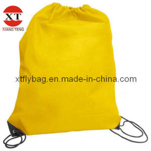 Environmental Plain Polyester Drawstring Backpack Carrier Bag pictures & photos