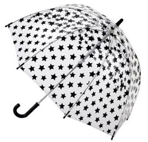 Black Star POE Umbrella, Transparent See Though Rain Umbrella