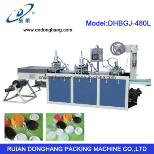 Donghang Automatic Plastic Lid Cover Forming Machine (DHBGJ-480L) pictures & photos