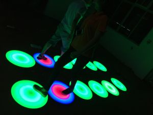 Very Nice Round RGB LED Dynamic Interactive Dance Floor pictures & photos