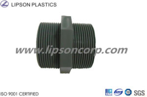 PVC Pipe Fittings Double Male Threaded Welding Nipple pictures & photos