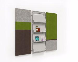 Uispair 100% Steel Simple Decorative Book Rack Newspaper Rack Magazine Rack