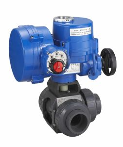 Electric PVC Ball Valve with Rotary Actuators Lq-1 pictures & photos