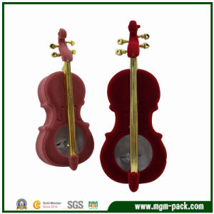 Elegant Violin Shaped Plastic Jewelry Box pictures & photos