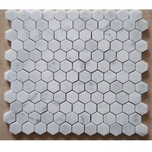 Hexagon Shape White Marble Mosaic for Sale pictures & photos