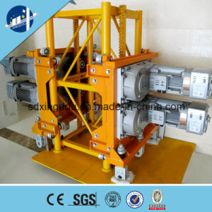 Electric Powered Sc100/100-1ton with Two Cages Construction Hoist Export Brazil pictures & photos