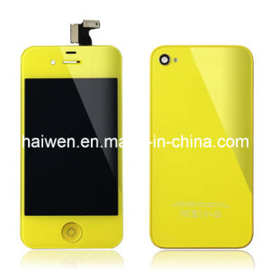 for iPhone 4S LCD & Touch Digitizer Assembly-Yellow Color