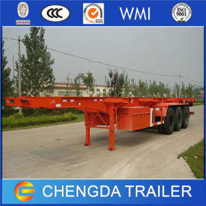 3 Axles 40FT Twist Locks Skeletonal Chassis Trailer for Container pictures & photos