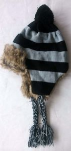 Winter Trapper Hat, Coldweather Cap, Knitted Hat