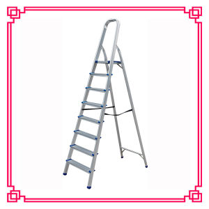8 Steps Household Aluminum Ladder Step Ladder pictures & photos