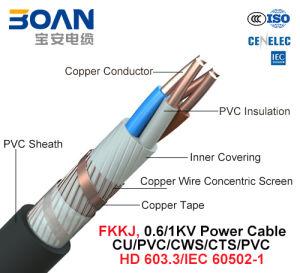 Fkkj, Power Cable, 0.6/1 Kv, Cu/PVC/Cws/Cts/PVC (HD 603.3/IEC 60502-1) pictures & photos