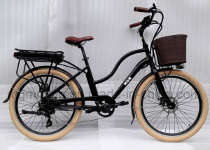 Classical City Brown Fat Tire 26 Inch Electric Bike pictures & photos