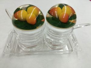 2PCS Glass Seasoning Jar Canister pictures & photos
