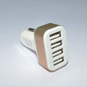 Promotion Products 4 USB Posts Car Charger as Christmas Gift pictures & photos