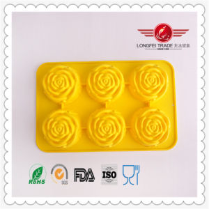 World Cuisine Non-Stick Silicone Rose Mold pictures & photos