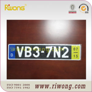 Aluminum Main Material License Plate pictures & photos
