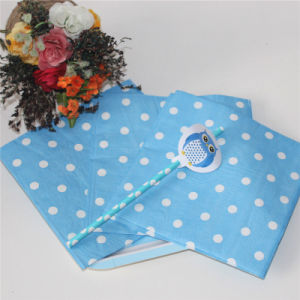 Blue Dots Design Paper Napkin Party Decoration pictures & photos