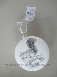 White Christmas Glass Bauble with Decal pictures & photos