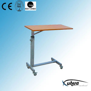 High Quality Stainless Steel Moveable Hospital Over Bed Table (L-3) pictures & photos