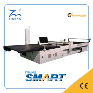 Timing CNC Cutter with Vacuum System and Conveyor Table for Industrial Textile