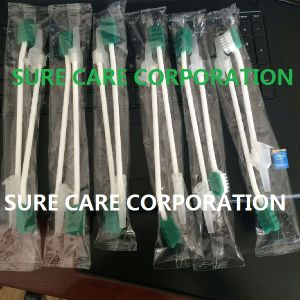 Disposable Dental Sponge Tooth Brush with Suction for Cleaning Use pictures & photos