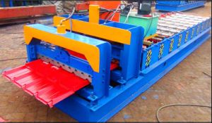 Hydraulic Cutting Color Roofing Tile Making Machine for Roofing pictures & photos