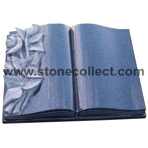 Book Style Blue Pearl Granite Headstone pictures & photos