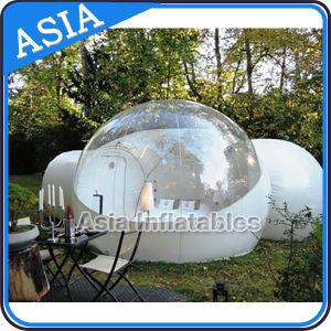 Half Transparent Inflatable Bubble Tent with 2 Tunnels for Camping pictures & photos