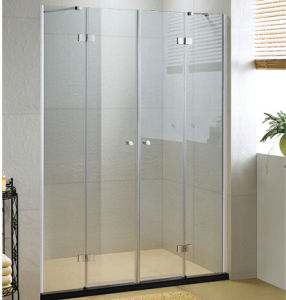 Toughened Glass Hing Shower Door for Bathroom pictures & photos