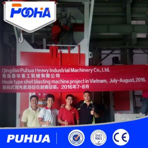 Two Hooks Type Shot Blasting Machine for Casting and Forging Parts pictures & photos