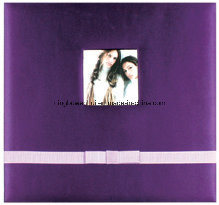 High Quality Customed Silver Fabric Cover Wedding Scrapbook Album Kit pictures & photos