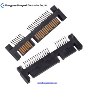 DIP Male 15p 180 Degree Pin=2.5mm SATA Connector