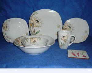 Dinner Set of Dinner Plate, Soup Plate, Bow, Mug