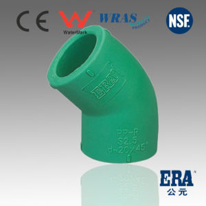 Hot/Cold Water DIN Standard Top Quality PPR 45 Degree Elbow pictures & photos