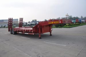 60tons 3-Axle Flatbed Semi Trailer pictures & photos