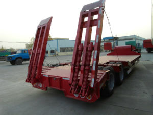 China Brand Three Axles Low Bed Semi Trailer pictures & photos
