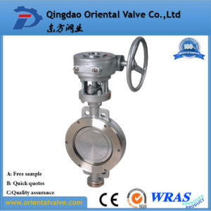 Pn10/16 Dn400 Made in China Flange Butterfly Valve pictures & photos