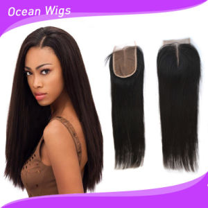 Cambodian Virgin Remy Hair Silk Top Lace Closure (LC-025) pictures & photos