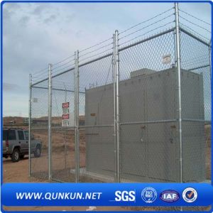 Galvanized PVC Coated Security Chain Link Mesh Fence pictures & photos